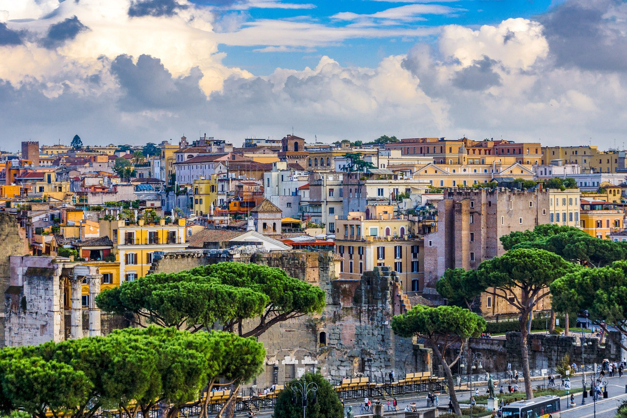 The panorama of Rome