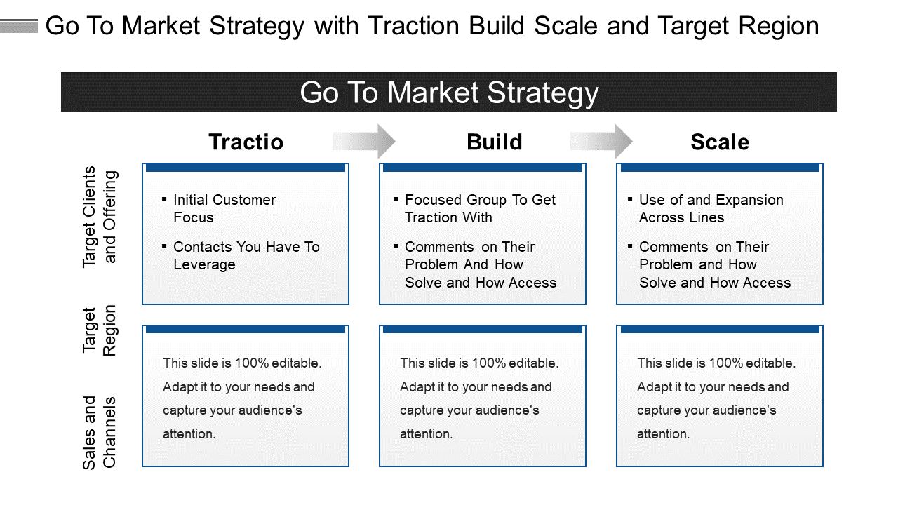 Go to Market PowerPoint Diagram Template