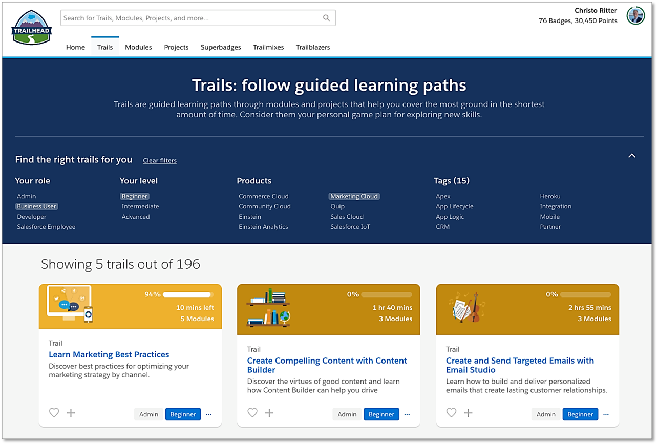 Trailhead — the Ace Up My Sleeve for Learning Over the Summer