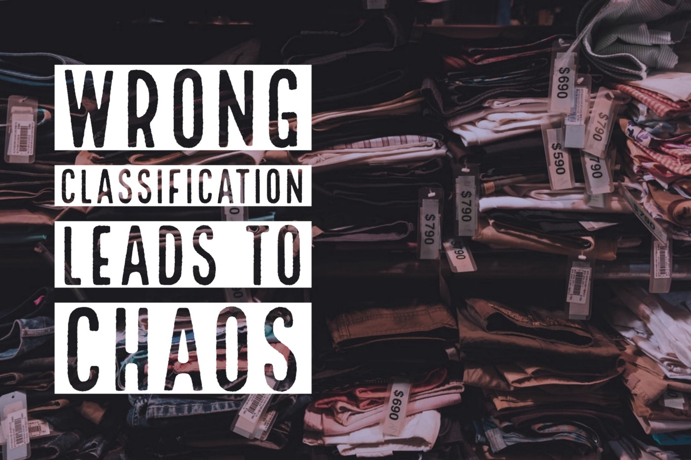 Wrong classification leads to chaos