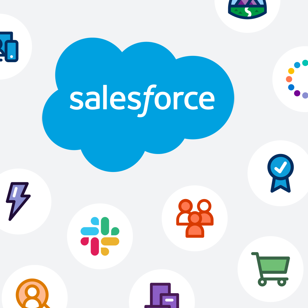 Image showing Salesforce cloud and icons
