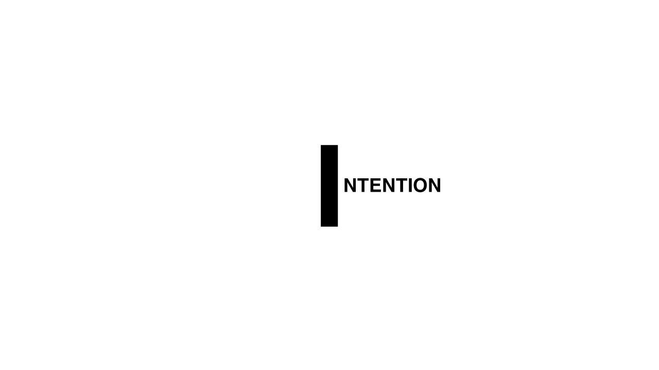 I for Intention