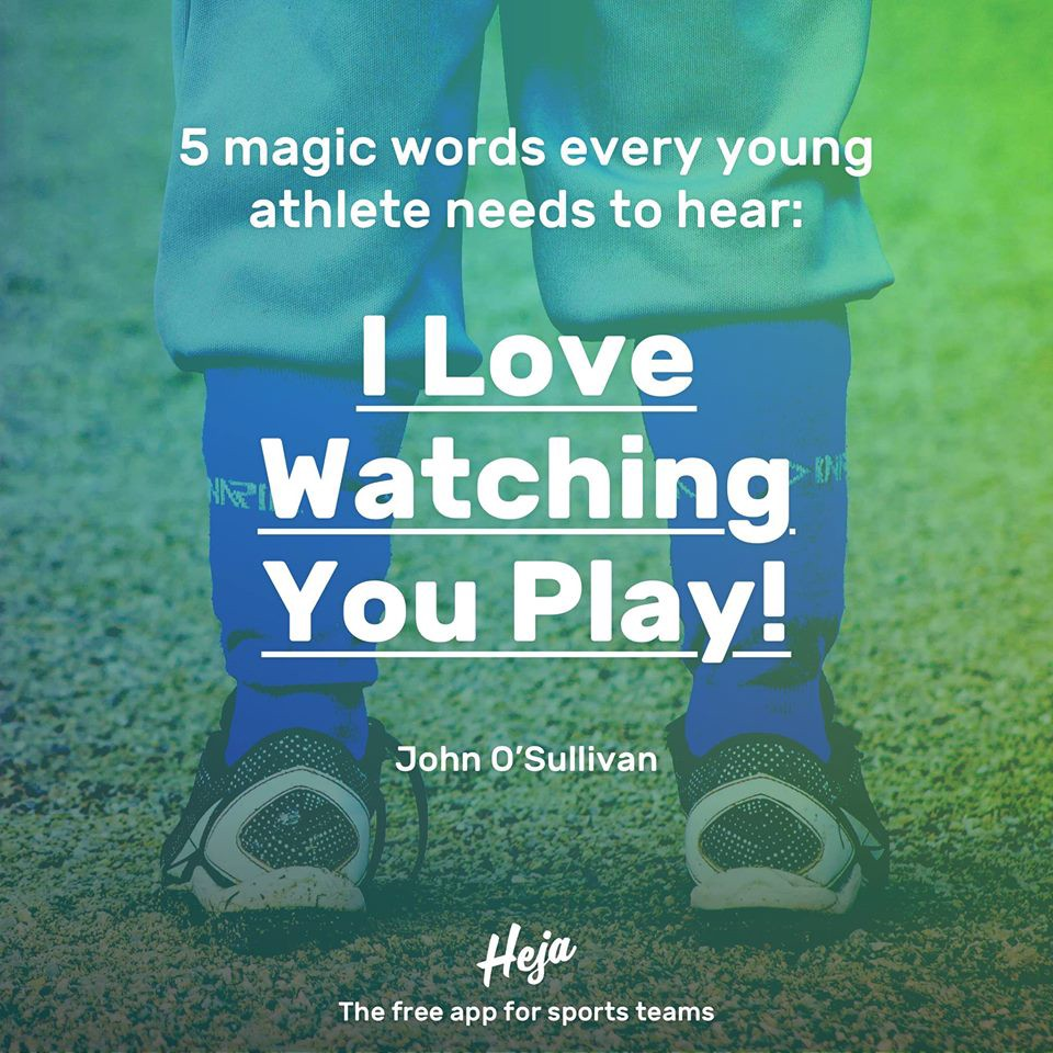 5 confidence-boosting words for your child's next sports game