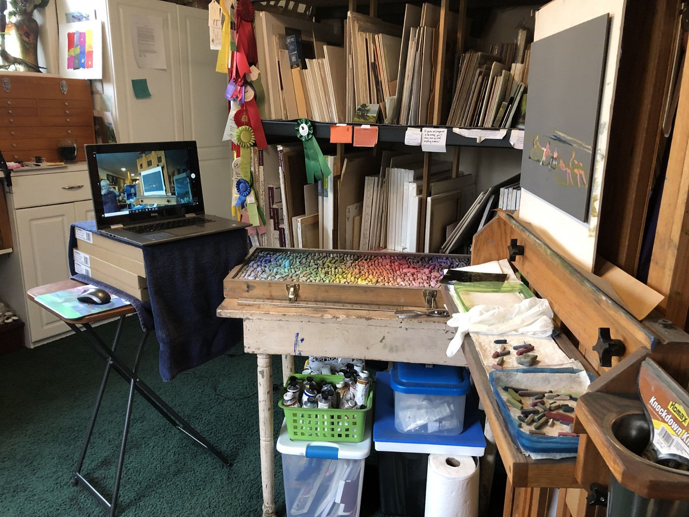 Photo of the Savage Studio ready to teach a lesson. Photo by author Marsha Hamby Savage.