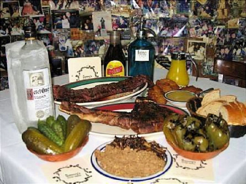 A spread at Sammy's Roumanian.