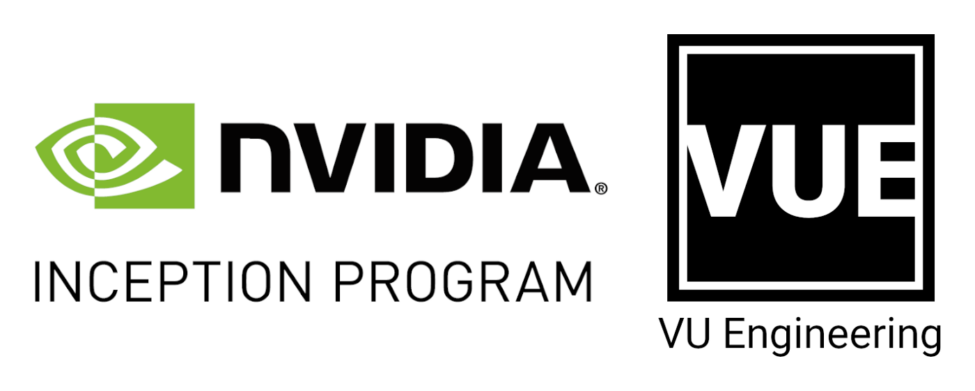 Logos of NVIDIA Inception and VU Engineering