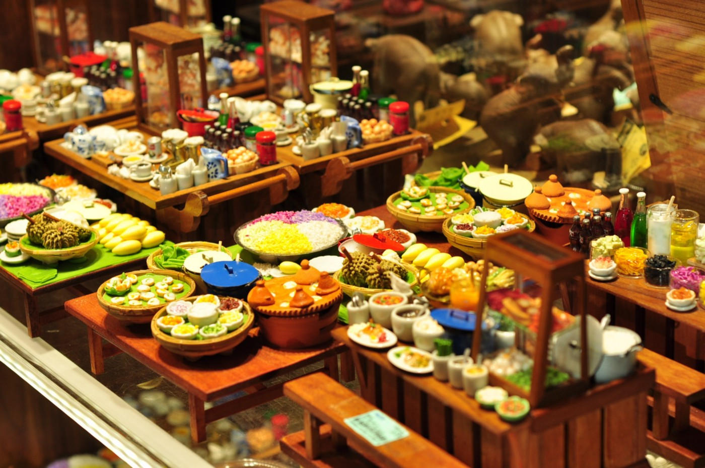 A buffet or full of foods