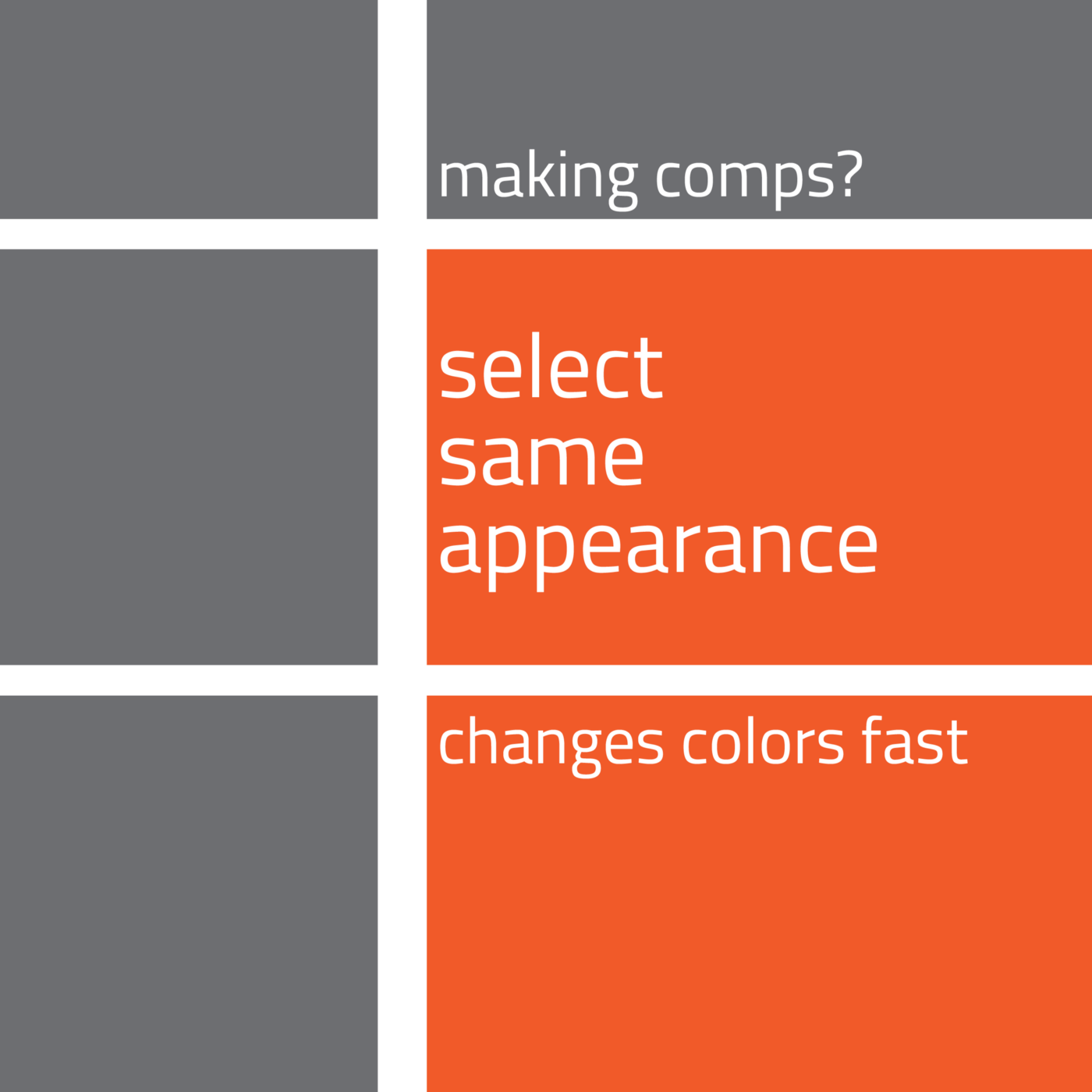 a quick tip to select Adobe Illustrator objects by appearance, one quick way to recolor