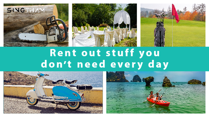 Rent out stuff you don't need every day