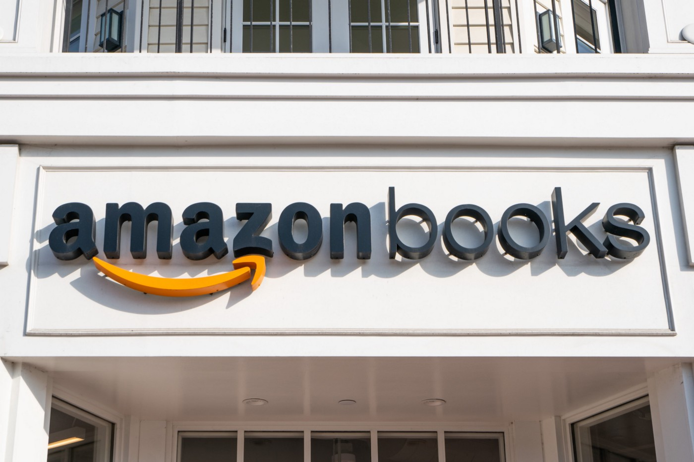 Exterior view of an Amazon Books store.