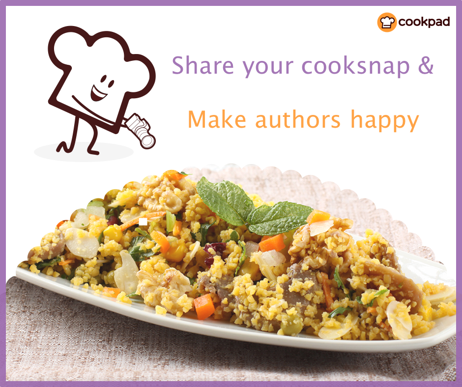 Upload your photos and make the authors HAPPY! - Cookpad India Blog