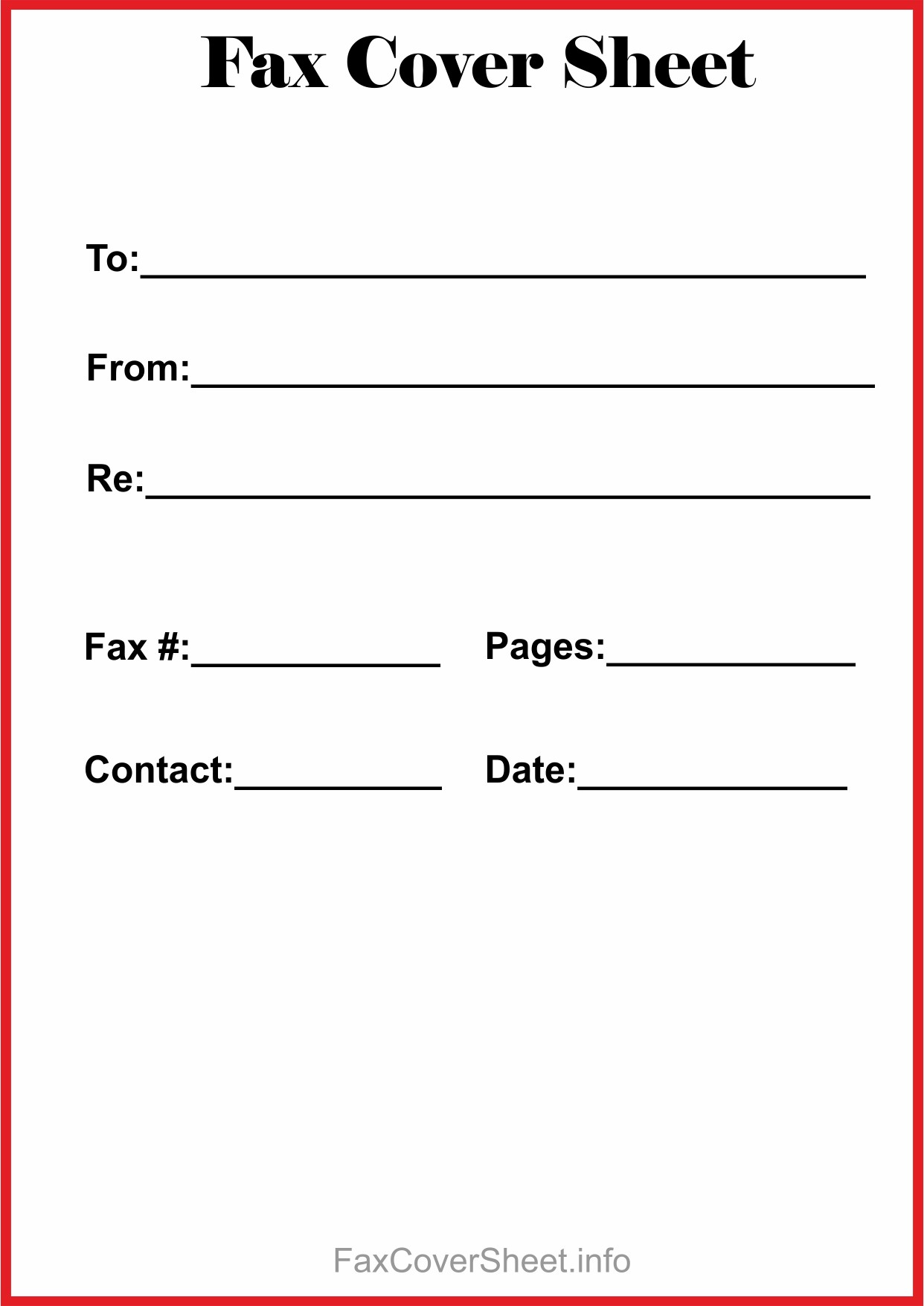 It is a graphic of Intrepid Fax Cover Sheet Free Printable
