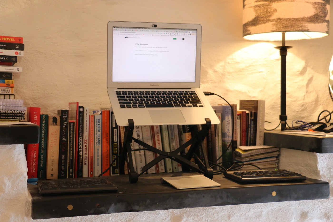 "The author's ""standing desk"""