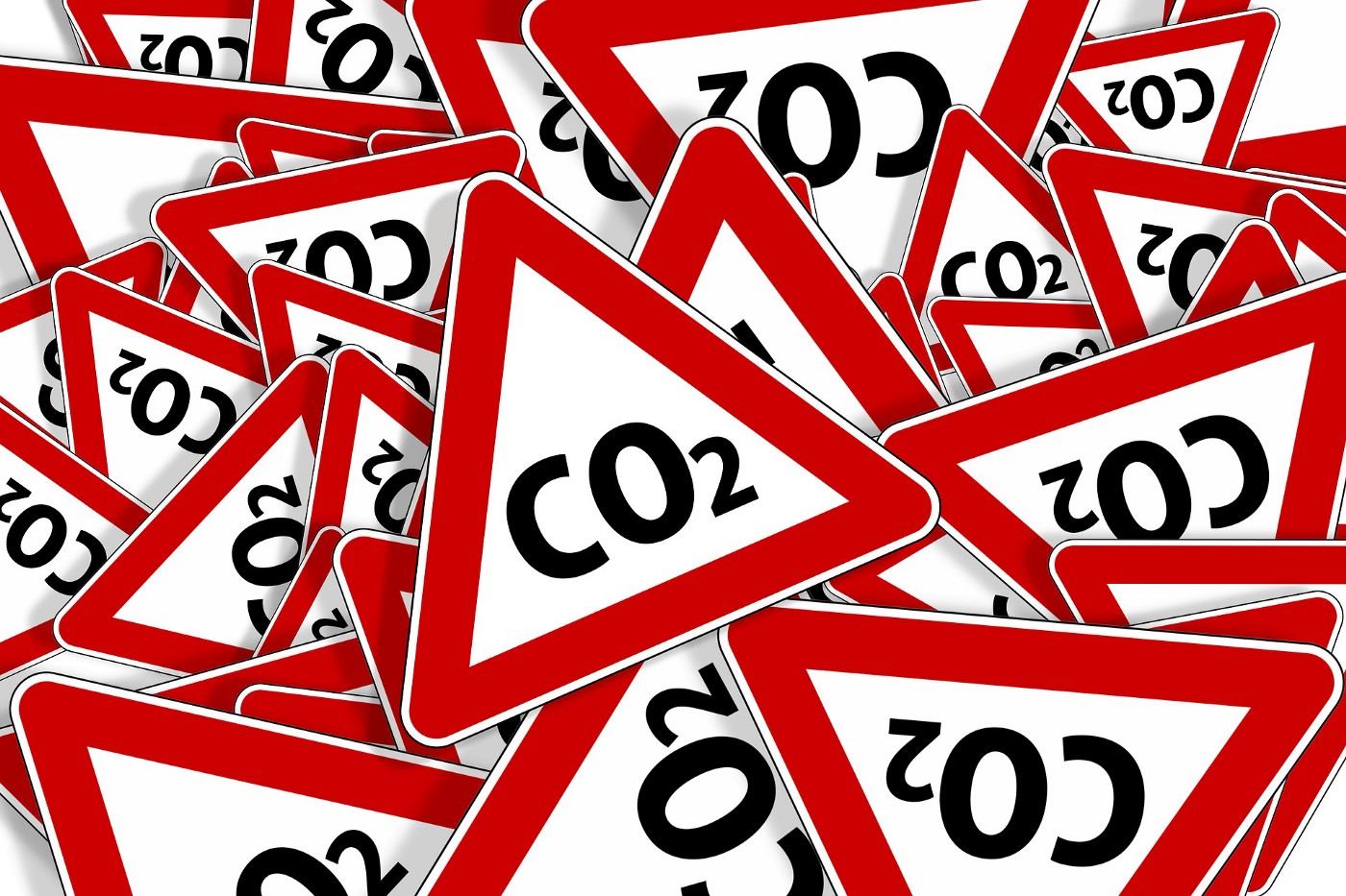 Image shows graphics with Carbon Dioxide text