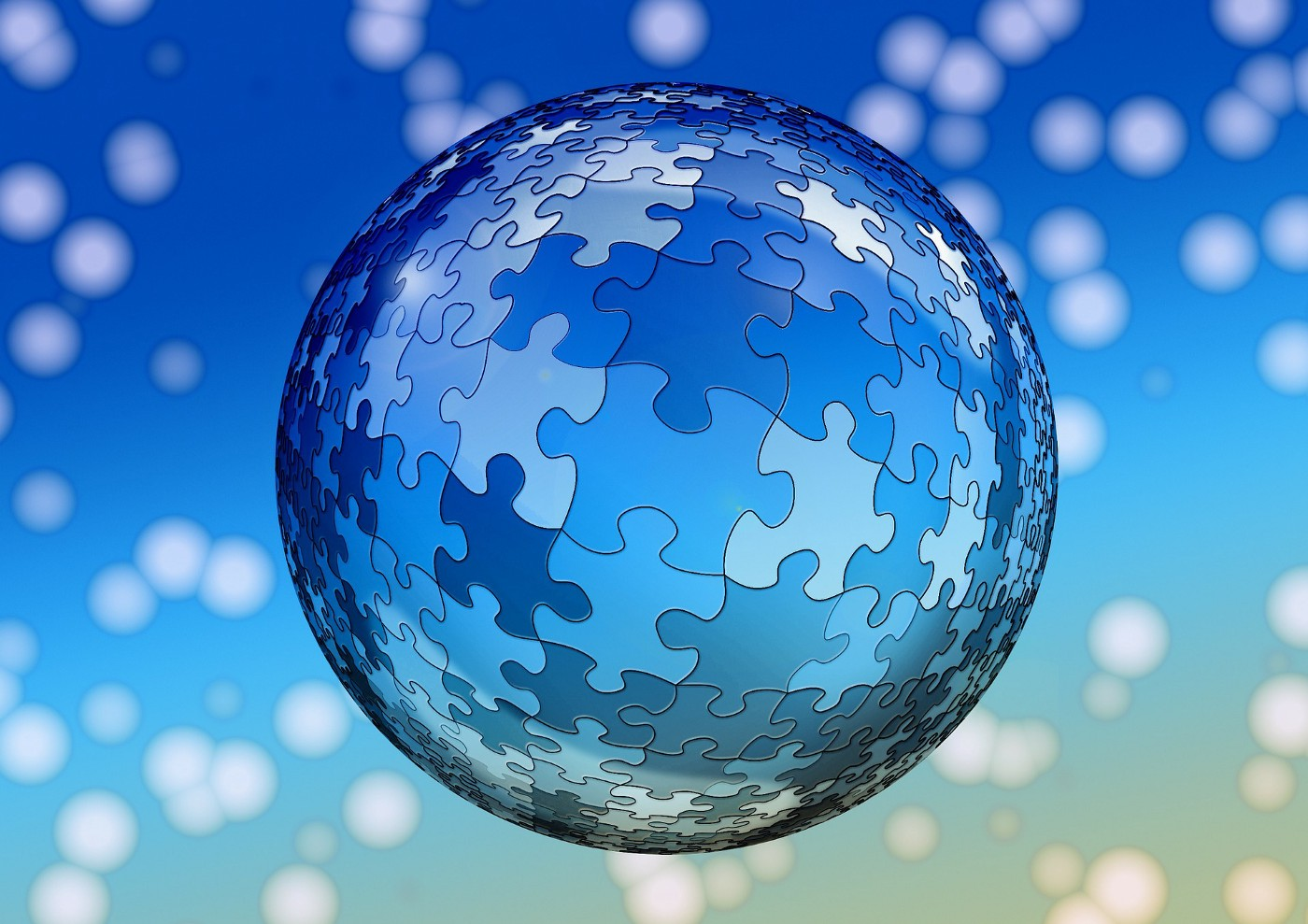 A ball puzzle representing the world as the mystery of God.