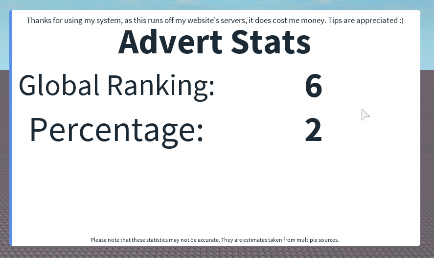 How to simultaneously track advertising statistics and add thousands