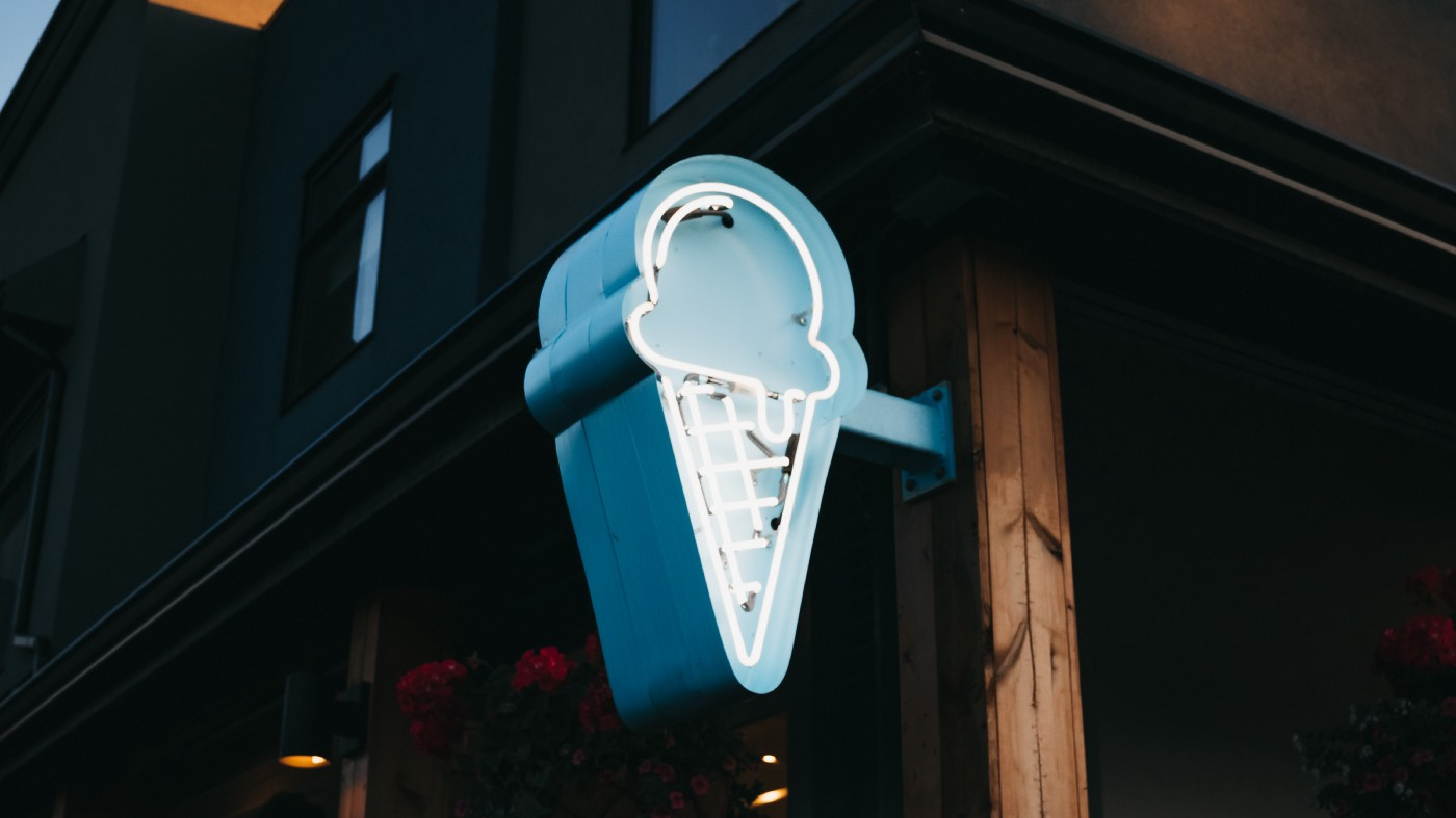 Neon ice cream sign image by Dylan Ferriera
