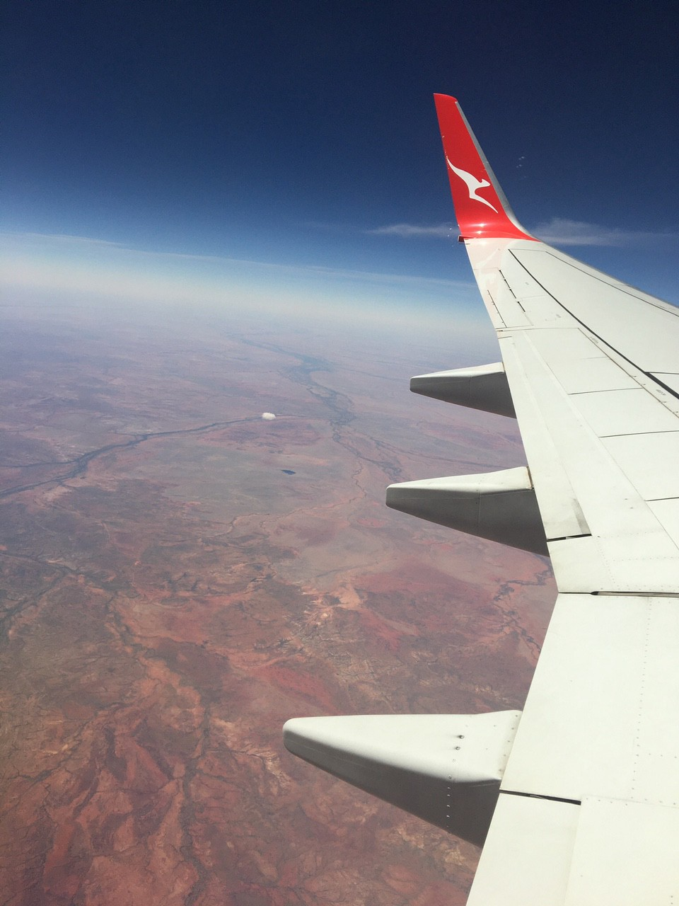 View from a Qantas plane