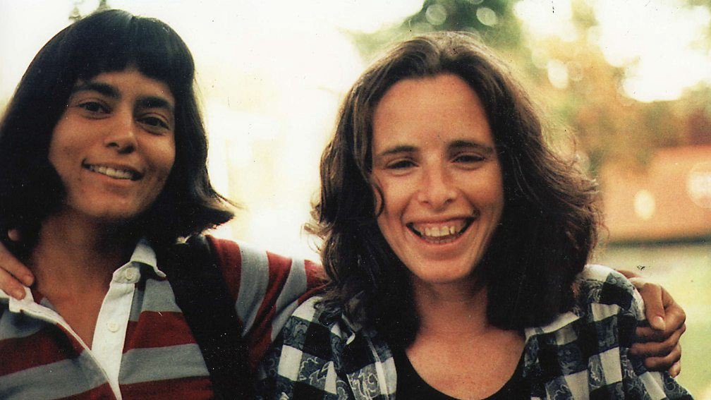 Claudia Brenner, right, with her girlfriend Rebecca Wight, who was murdered in 1988