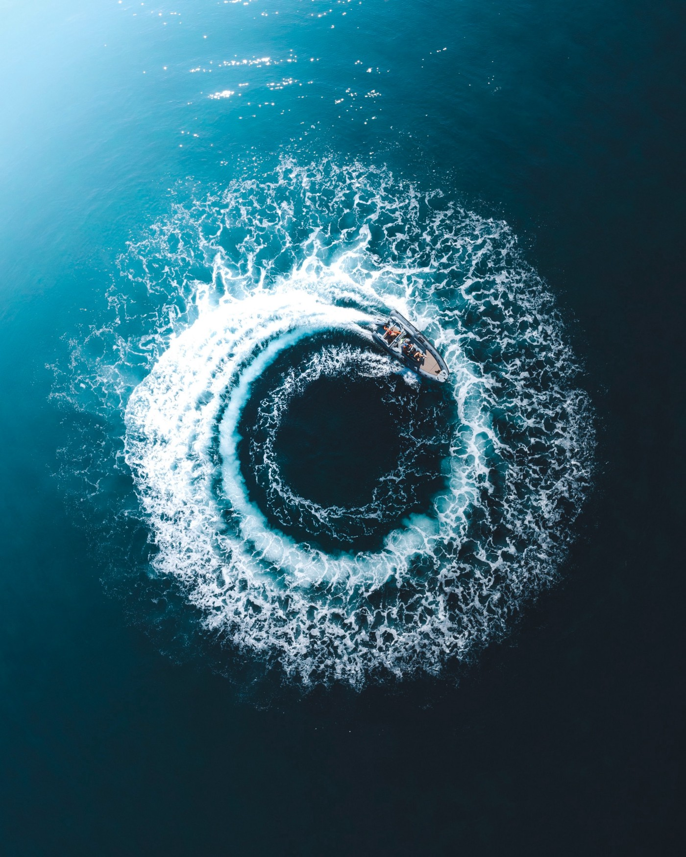 Boat going in circles