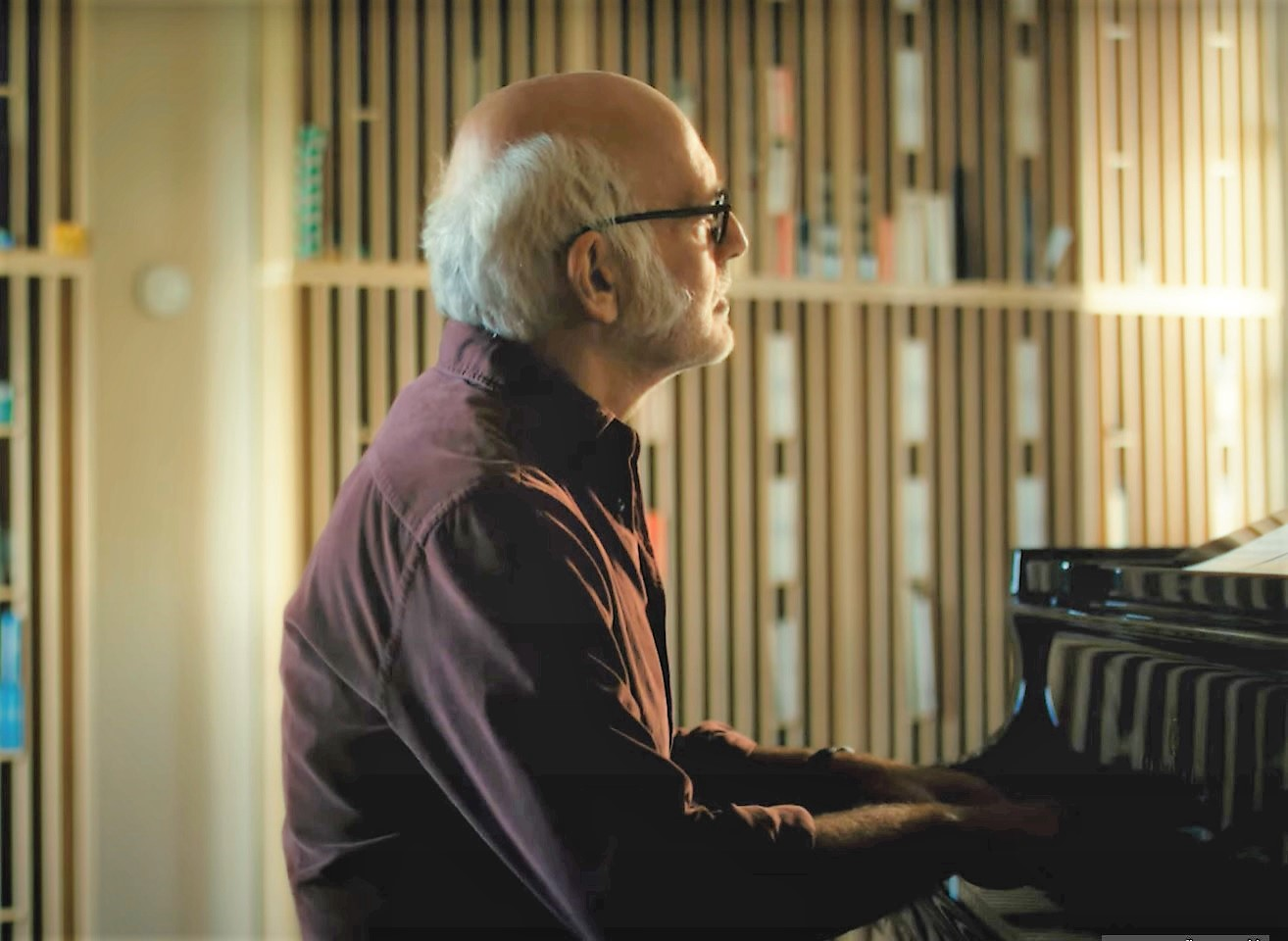"""Ludovico Einaudi playing Luminous (Live) at home from his new solo album """"Underwater."""""""