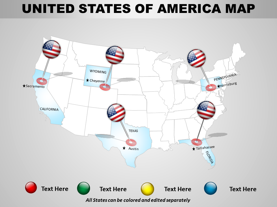 USA Country PowerPoint Map