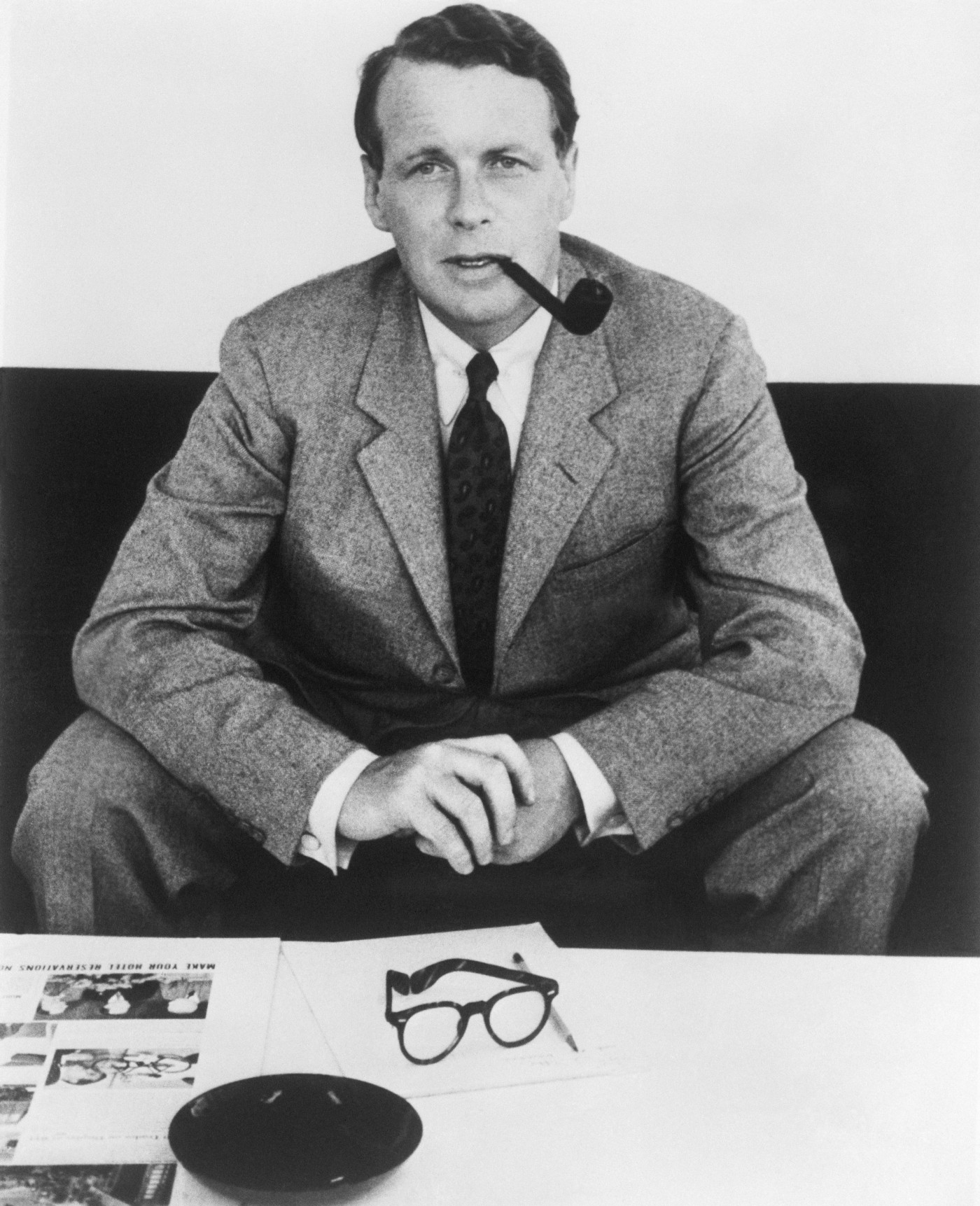David Ogilvy, founder and president of the advertising agency Ogilvy & Mather.