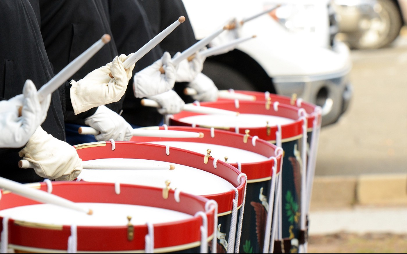 drums in marching band