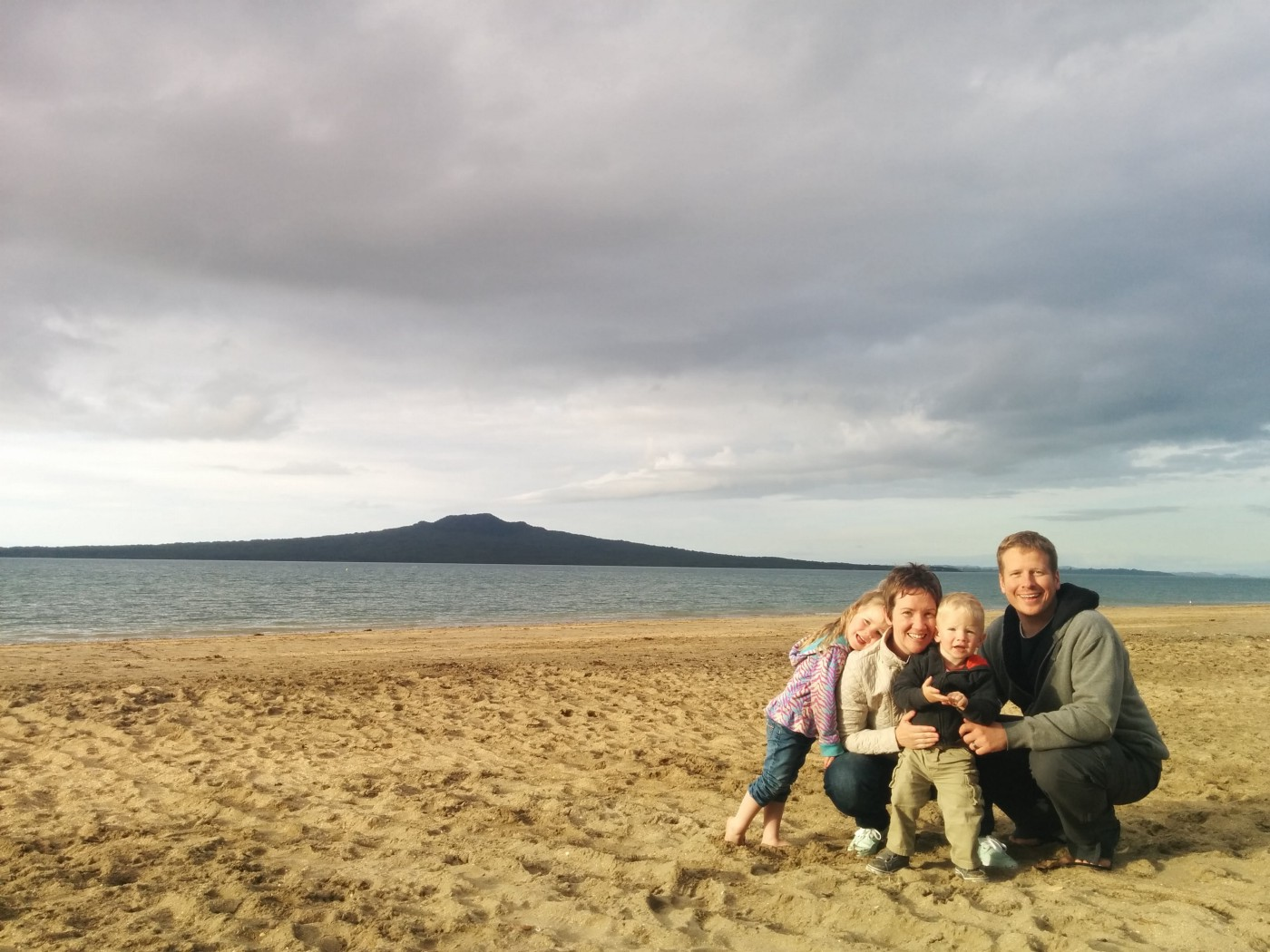 My family of four the day we arrived in Auckland, New Zealand.