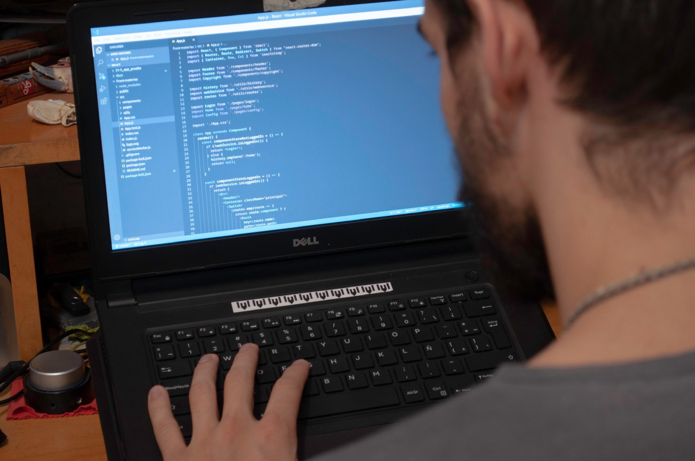 Image of a person working on a project