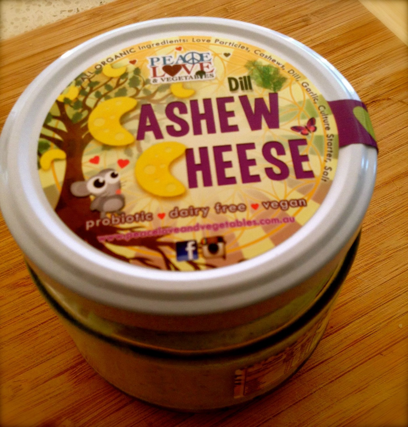 Peace Love & Vegetables 'Dill Cashew Cheese' - Vegan cheese reviews