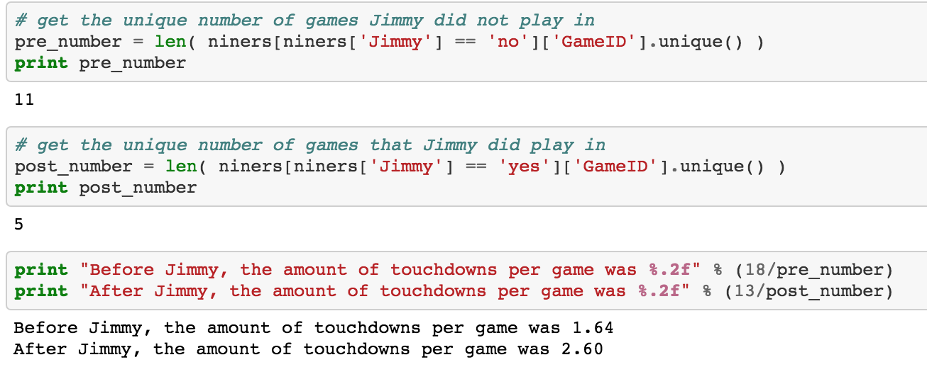 The Garoppolo Effect: Exploring NFL Data using Python Tutorial