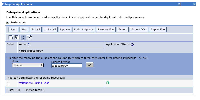 Application started successfully