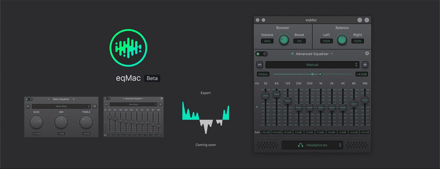 eqMac is a free, open source, audio equilizer for MacOS