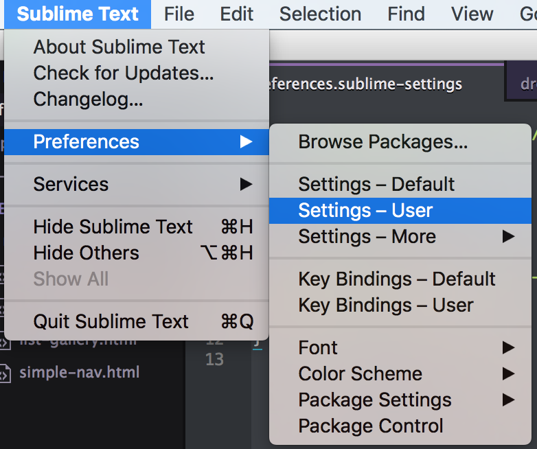 Top 5 Must Have User Settings in Sublime Text 3 - Leandra Silver