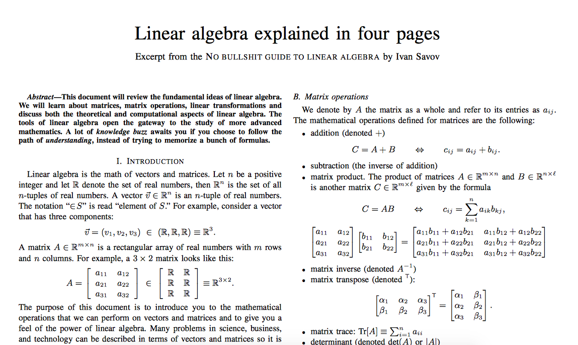 Math, Stats and NLP for Machine Learning: As Fast As Possible