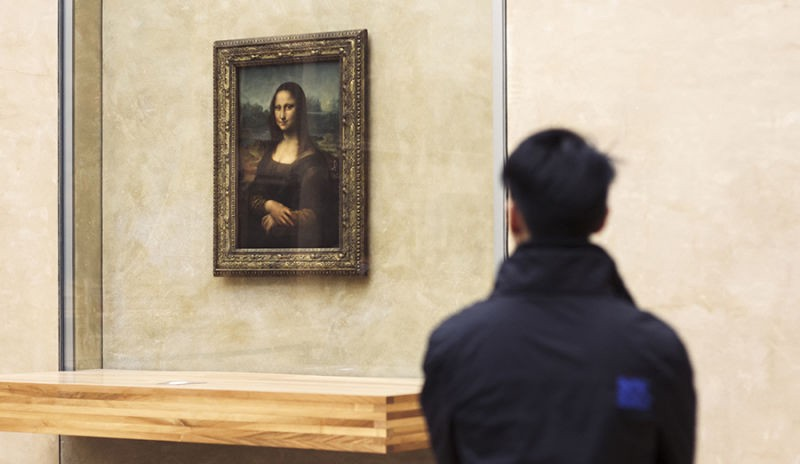 The Mona Lisa in Louvre, France
