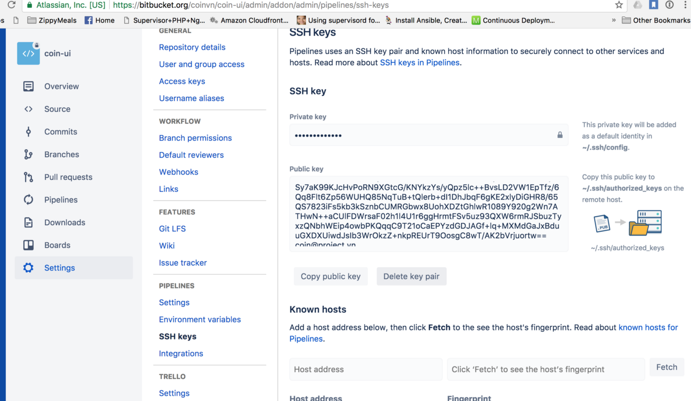 How to apply Continuous Deployment zero cost with Bitbucket