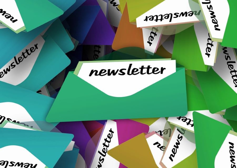 Newsletters and envelopes