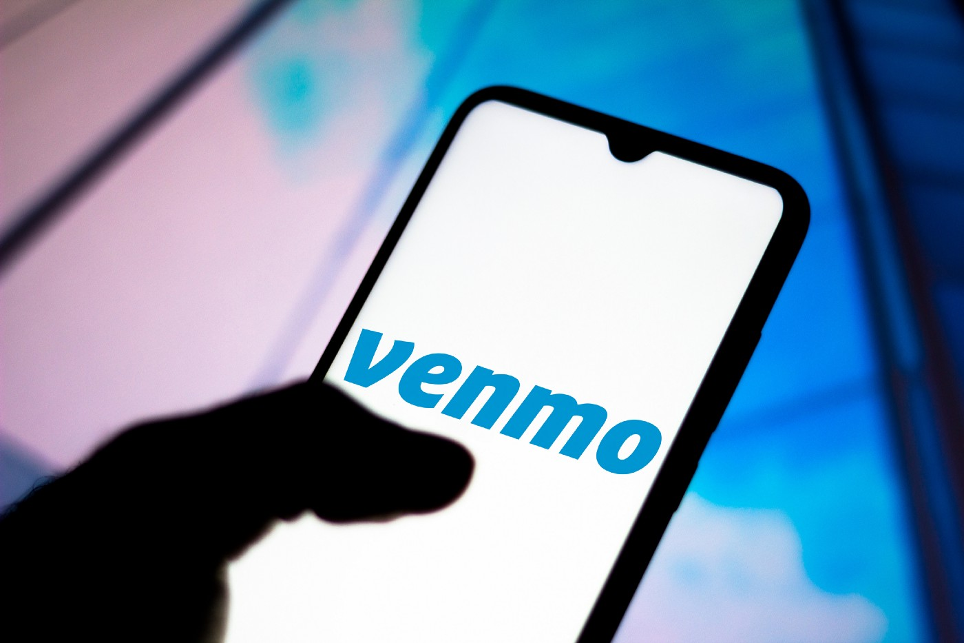 Venmo logo displayed on a smartphone.