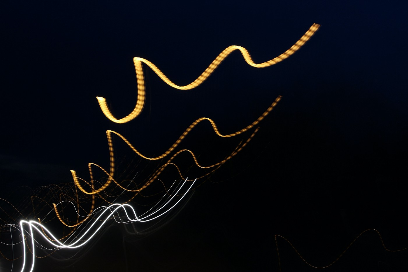 decorative image of abstract strings of lights