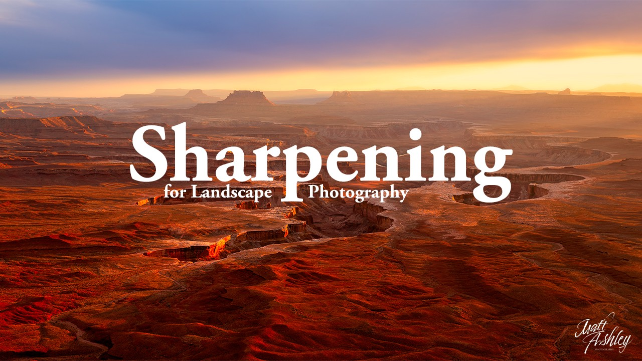 "Thumbnail reading, ""Sharpening for Landscape Photography""."