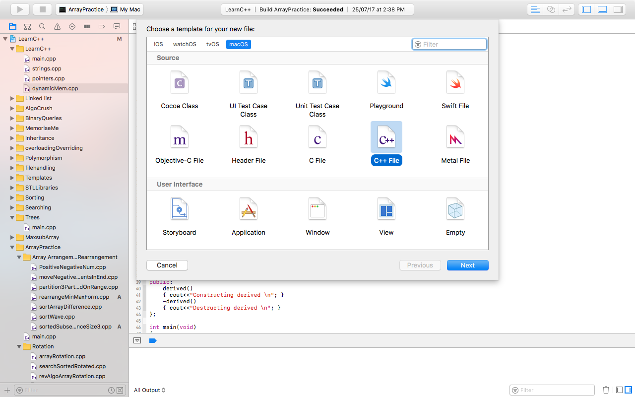 Mac Xcode and C++ — Project/Programs Management - Aviral Agarwal