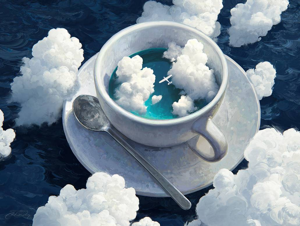clouds in cup