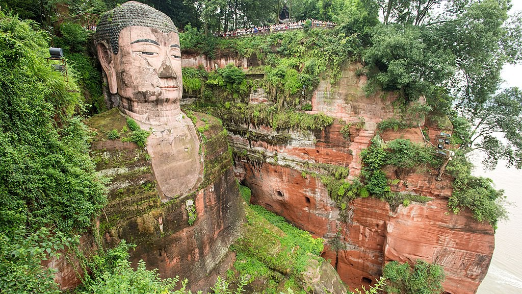 The Leshan Buddha in Sichuan (the province which leads Bitcoin hashpower)