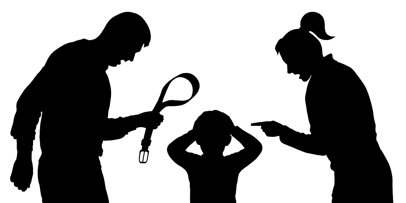 Illustration of parents yelling at a child