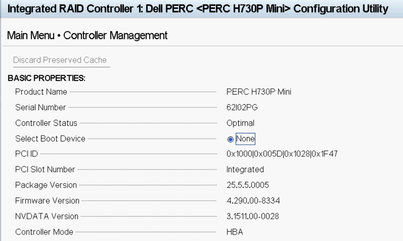 How To Configure Perc H330
