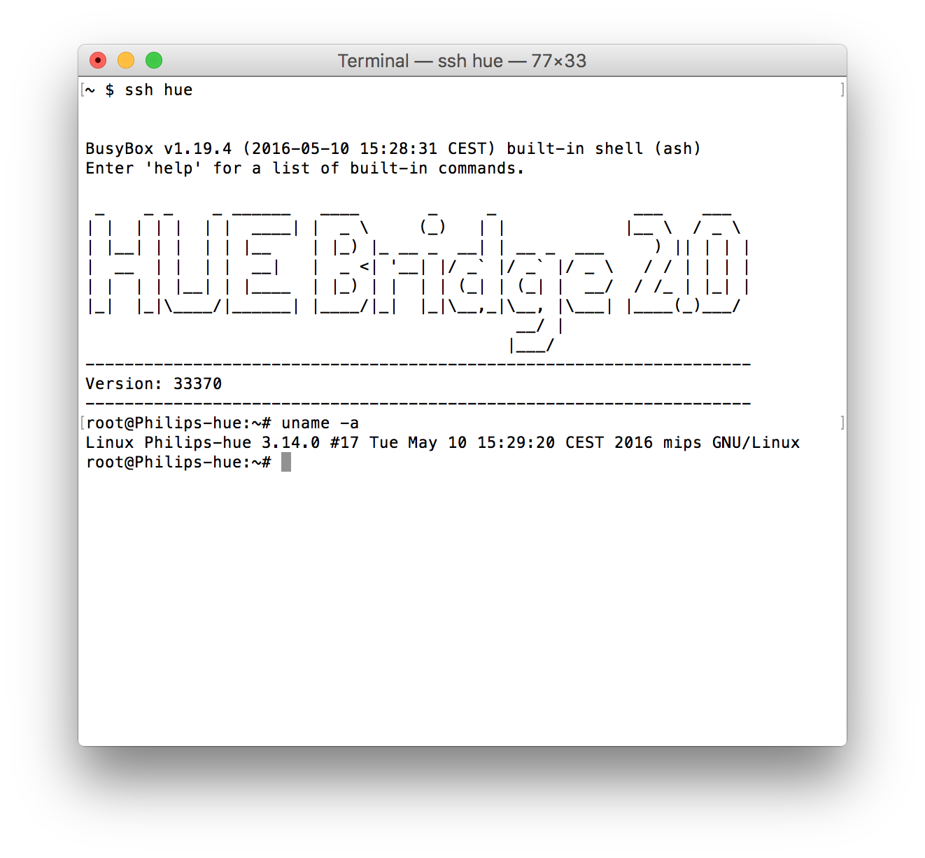Enabling the hidden Wi-Fi radio on the Philips Hue Bridge 2 0