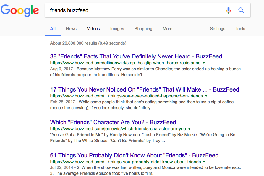 More Than Friends: Buzzfeed Should Steal Traffic From Wikipedia