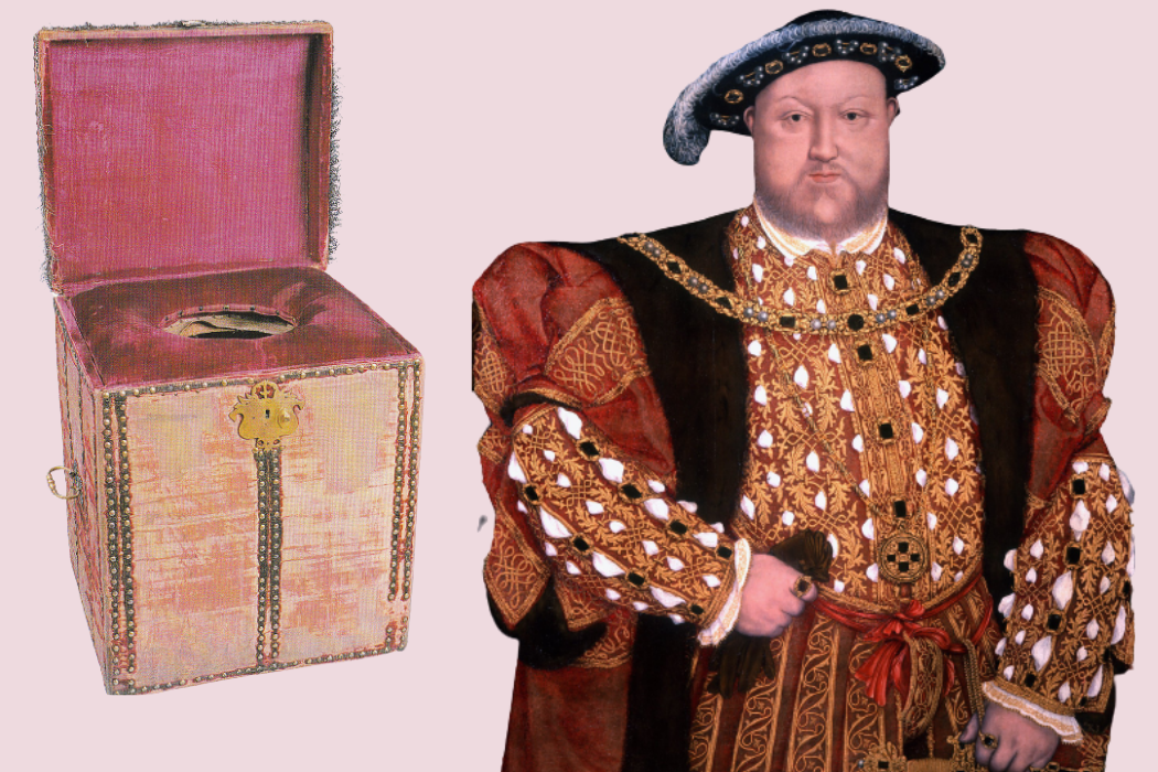 Henry VIII and the famous stool his Groom carried around